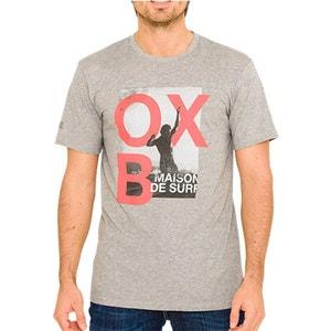 T-shirt con scollo rotondo tinta unita, maniche corte OXBOW