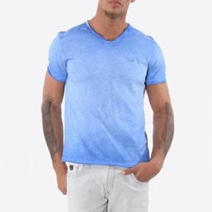 Effen T-shirt met V-hals en korte mouwen KAPORAL 5