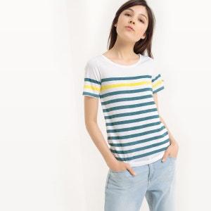 T-shirt manches courtes, rayé R essentiel
