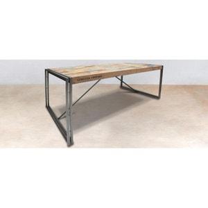 Table à manger rectangle bois recyclé 225x100 CARAVELLE PIER IMPORT