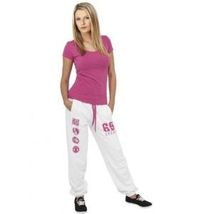 Bas de jogging URBAN DANCE Blanc / Rose Pantalon Danse URBAN DANCE