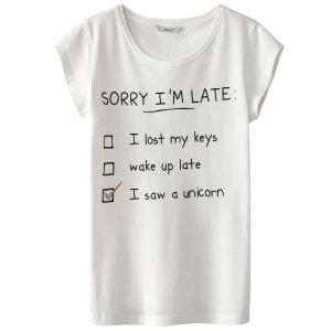 Tee shirt col rond, imprimé ONLY