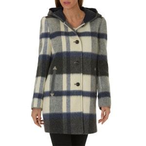 Manteau en laine dans une superbe laine à carreaux GIL BRET