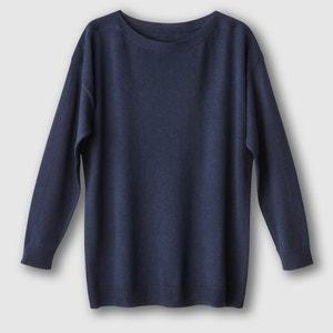 Loose Fit Cotton/Cashmere Boat Neck Jumper/Sweater R essentiel