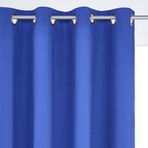 Cotton Blackout Single Curtain with Eyelet Header SCENARIO