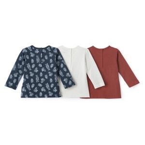 T-shirt met lange mouwen 1 mnd - 3 jr (set van 3) La Redoute Collections
