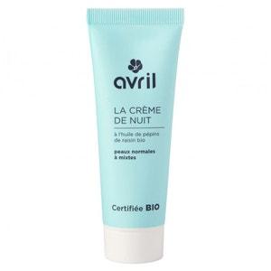 Crème de Nuit Peaux Normales et Mixtes Avril Beauté Certifié Bio AVRIL