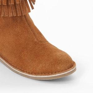 Gevoerde laarzen met franjes La Redoute Collections