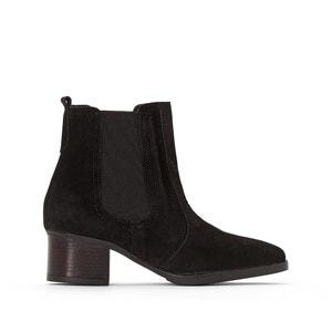 Boots cuir à talon LAURIE BOOTIE ESPRIT