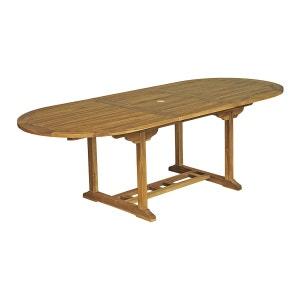 Table ovale Baya L 180/240 - 100 - Teck Huilé CEMONJARDIN
