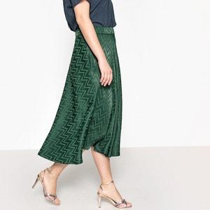 Zig Zag Patterned Midi Skirt CASTALUNA