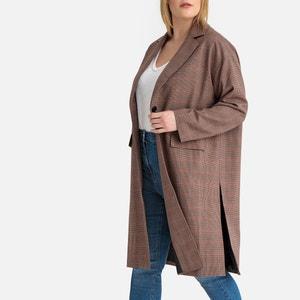 Lange jas met ruiten, halflang