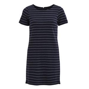 Robe T-shirt mi-longue rayée manches courtes VILA
