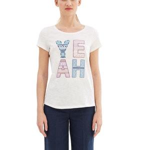 Bedrukt T-shirt met ronde hals ESPRIT