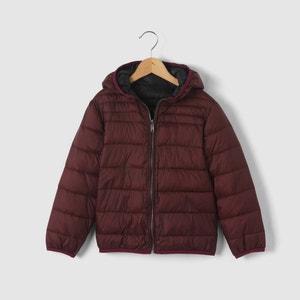 Куртка стеганая тонкая двухсторонняя с капюшоном, 3-12 лет La Redoute Collections