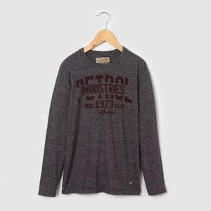 Long-Sleeved Printed T-Shirt, 8-16 Years PETROL INDUSTRIES