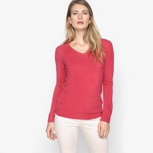 Пуловер из тонкого трикотажа с V-образным вырезом ANNE WEYBURN