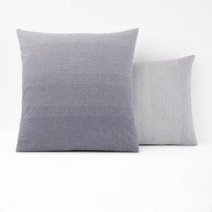 Taie d'oreiller coton tissé teint BELLE ÏLE La Redoute Interieurs