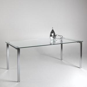 Mesa design, 6 a 8 pessoas, metal e vidro, Joan La Redoute Interieurs