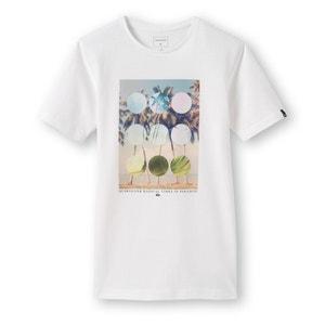 Camiseta con cuello redondo y motivo estampado 8-16 años Quiksilver® QUIKSILVER