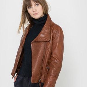 Leather Biker Jacket SOFT GREY