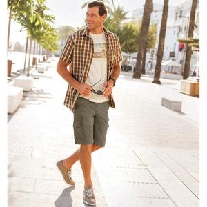 Combat-Style Bermuda Shorts CASTALUNA FOR MEN