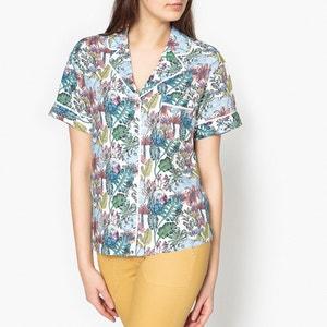 Camisa com gola tipo pijama, JUNGLE MARIE SIXTINE