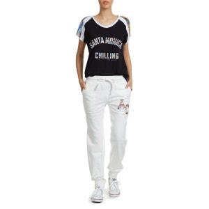 Tee Shirt Mc Santa Monica Chilling Benni American College Noir AMERICAN COLLEGE