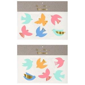 Tatouages éphémères Neon Bird MERI MERI