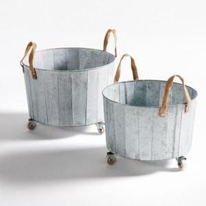 Vaso em zinco com rodas (lote de 2), Aissa La Redoute Interieurs