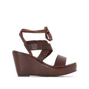 Sandálias de cunha em pele CASTALUNA