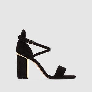 Sandálias com tacões MAYBEL, pele aveludada DUNE LONDON