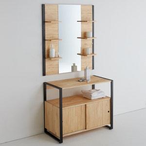 Espejo de baño, pino macizo & metal, Hiba La Redoute Interieurs