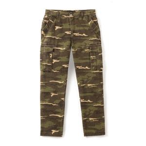 Battle broek met camouflage print, recht model R édition