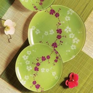 Service de table en verre 19 pièces Kashima vert LUMINARC