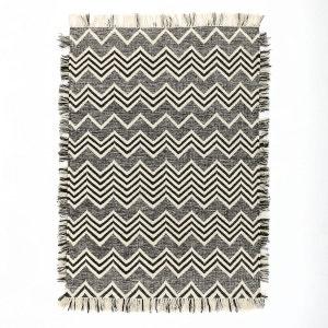 Tapis tissé à plat motif kilim en laine, Tibal AM.PM