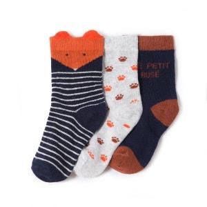 Lot de 3 chaussettes fantaisies 15/18-23/26 La Redoute Collections