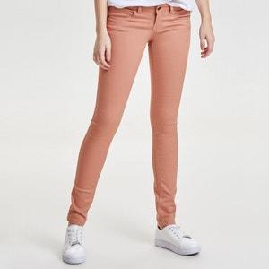 Calças slim, cintura normal, efeito push-up, comprimento 34 ONLY