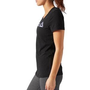 Printed Short-Sleeved Crew Neck T-Shirt REEBOK