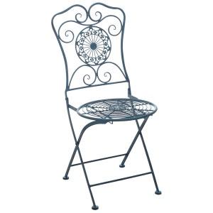 Chaise de jardin pliante en métal AUBRY GASPARD