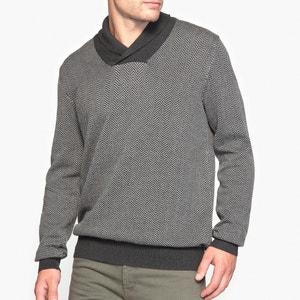 Camisola com gola de rebuço 100% algodão R essentiel