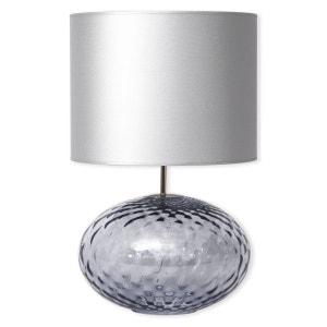 Lampe en verre bleu ciel avec abat-jour 60cm - DEBORAH BRUNO EVRARD