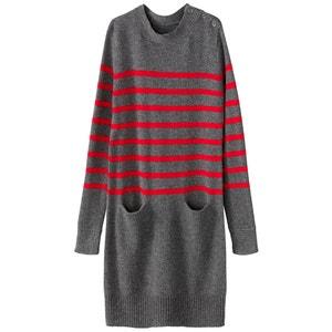 Платье-тельняшка прямое, трикотажное La Redoute Collections