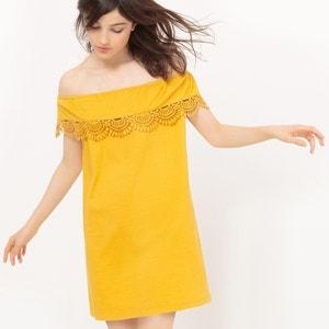 Платье короткое с короткими рукавами La Redoute Collections