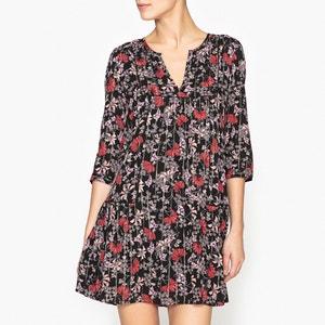 Bedrukte glanzende jurk EVE BA&SH