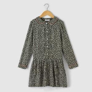 Kleid, A-Linie, Blumenaufdruck, 3-12 Jahre abcd'R