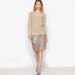Pullover mit V-Ausschnitt, Leinen-/Baumwoll-Mix ANNE WEYBURN