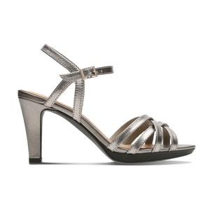 Leren sandalen met hak Adriel Wavy CLARKS
