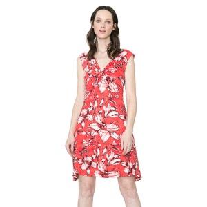 Sukienka bez rękawów, z nadrukiem, woal na podszewce DESIGUAL, Vest Juana DESIGUAL