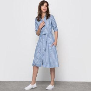 Striped Cotton Shirt Dress atelier R
